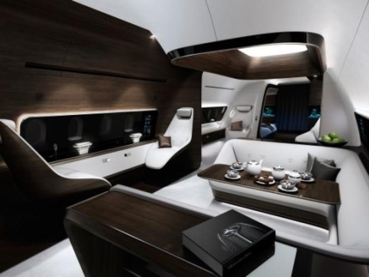 Mercedes en Lufthansa maken luxe vliegtuiginterieur