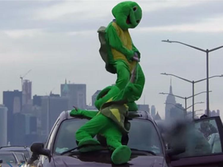 Snelwegophoudende ninja turtels